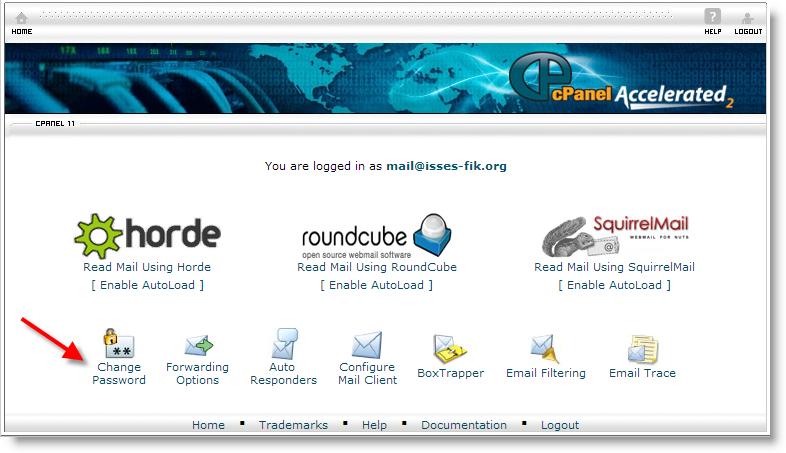 change password webmail